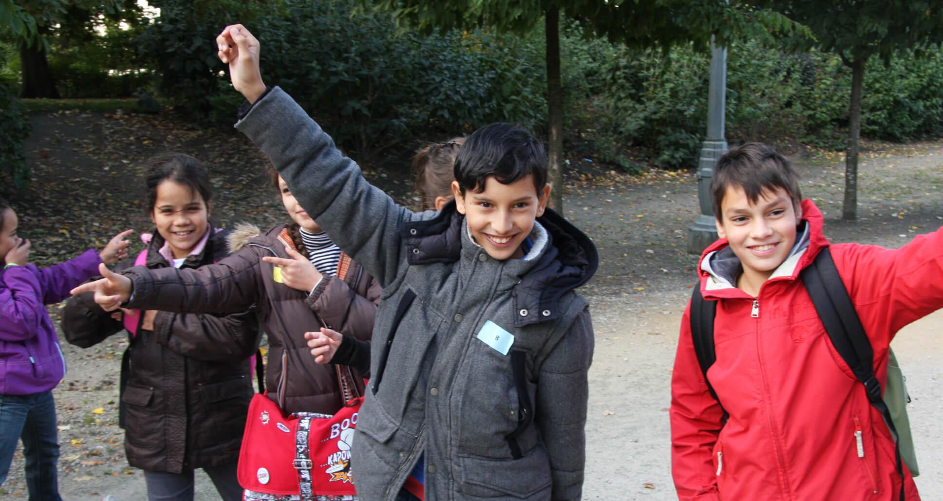 leerlingen werken enthousiast mee
